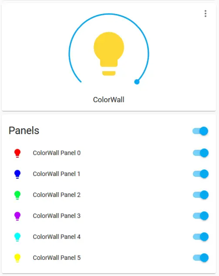 My ColorWall UI group